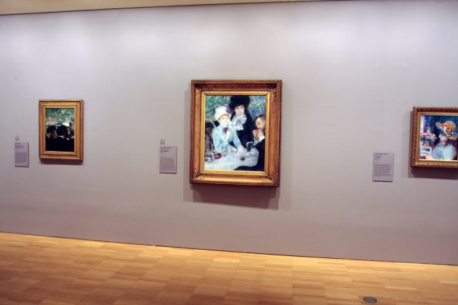 Installation view of Pierre Auguste Renoir (French 1841-1919) 'After the luncheon' (La fin du déjeuner) 1879
