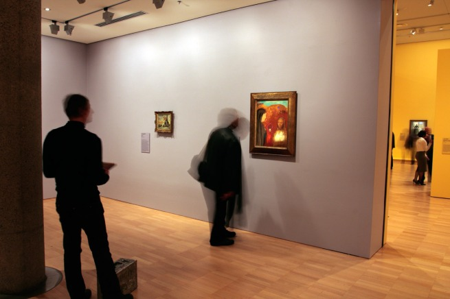 Installation view of Odilon Redon (French 1840-1916) 'Christ and the Samaritan Woman' (Le Christ et la Samaritaine) c. 1895