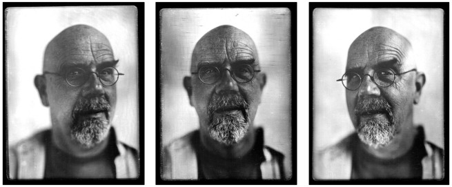 Chuck Close. 'Self portrait daguerreotype' 2000