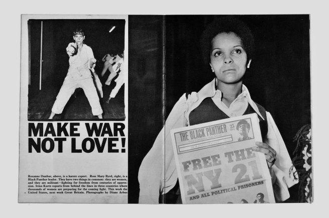Diane Arbus. 'Make War Not Love!' Sunday Times Magazine (London) (September 14, 1969)