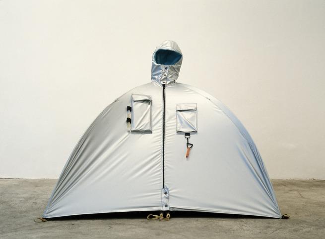 Lucy Orta. 'Refuge Wear – Habitent' 1992