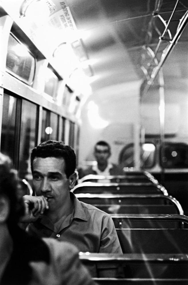 Robert McFarlane (Australia, b. 1942) 'Charles Perkins going home from University' c. 1963