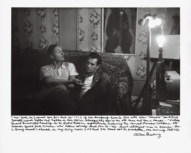 "Allen Ginsberg. '""Now Jack as I warned you""… William Burroughs… lecturing…Jack Kerouac…Manhattan, 206 East 7th St. Apt. 16, Fall 1953' 1953; printed 1984-1997"