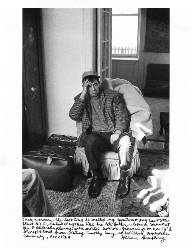 Allen Ginsberg. 'Jack Kerouac the last time he visited my apartment 704 East 5th Street, N.Y.C.… Fall 1964' 1964