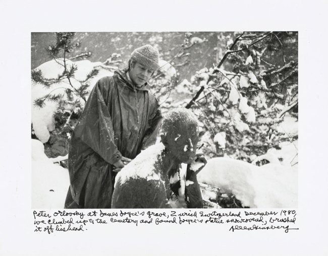 Allen Ginsberg. 'Peter Orlovsky at James Joyce's grave' 1980; printed 1984-1997