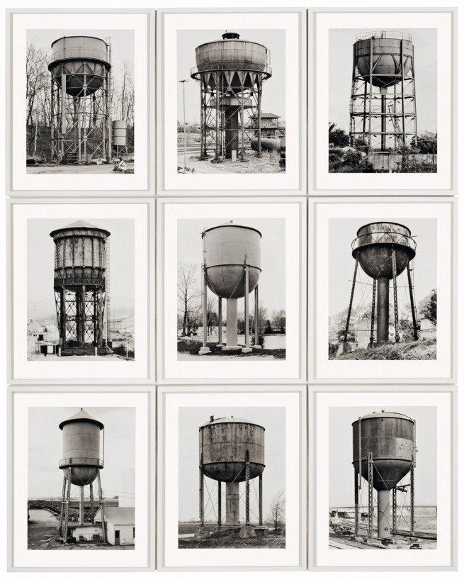 Bernd and Hilla Becher. 'Water Towers' 1980