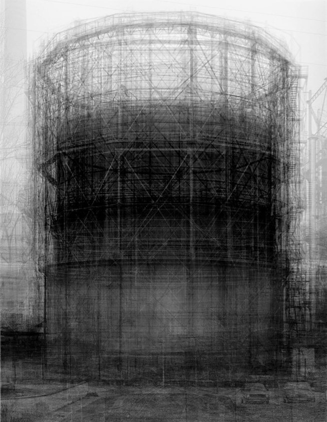 Idris Khan. 'Homage to Bernd Becher' 2007