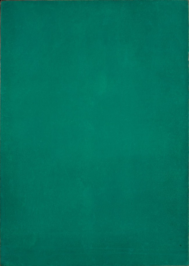 Yves Klein. 'Untitled Green Monochrome' c. 1954