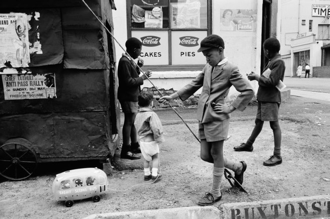 David Goldblatt, 'Steven with Sight Seeing Bus, Doornfontein, Johannesburg, 1960'