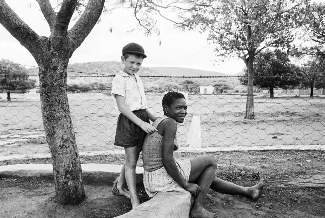 David Goldblatt. 'A farmer's son with his nursemaid, Heimweeberg, Nietverdiend, 1964'