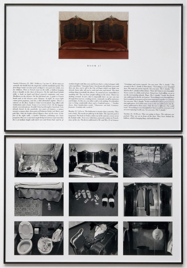 Sophie Calle (French, b. 1953) 'The Hotel, Room 47' (L'Hôtel, Chambre 47) 1981
