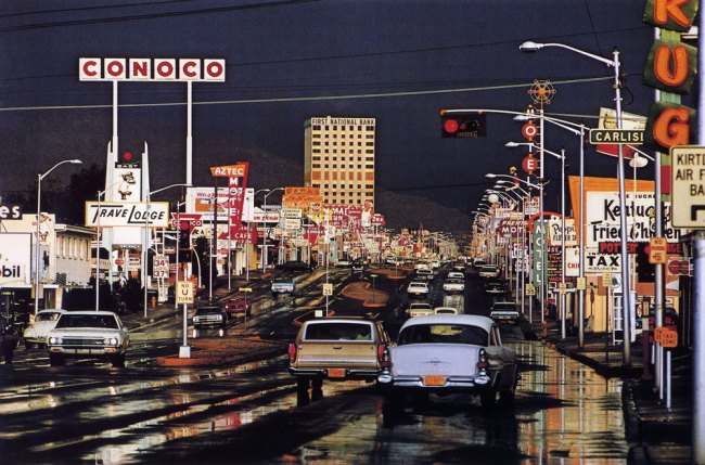 HAAS, Ernst (1921-1986). 'Route 66, Albuquerque, New Mexico, USA' 1969, printed later