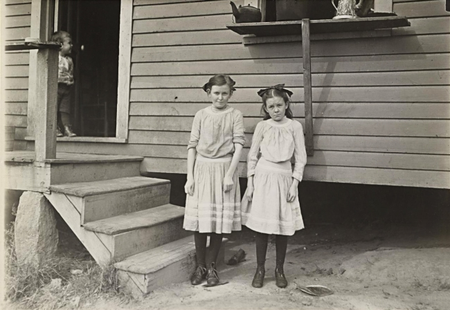 Lewis Hine (American, 1874-1940) 'Lacy, twelve years old and Savannah, eleven years old' 1908