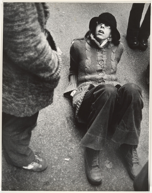 Leon Levinstein. 'Nuclear Protest, Wall Street' 1970s