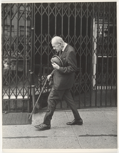 Leon Levinstein. 'Street Scene - Elderly Man Walking with Cane, New York City' 1970s