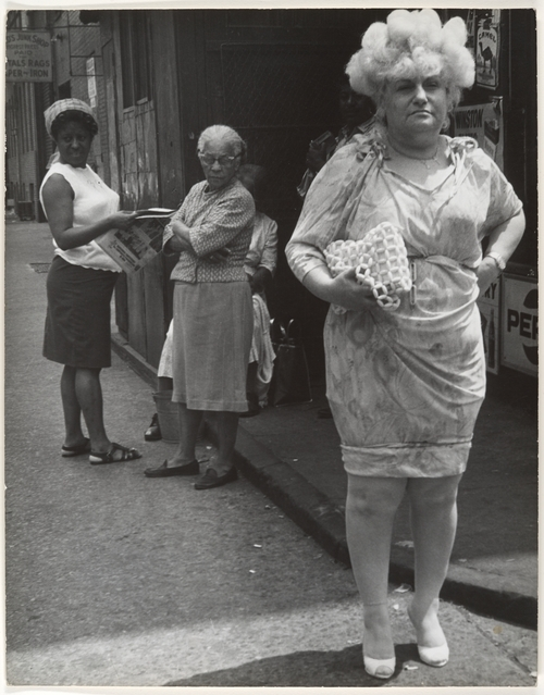 Leon Levinstein. 'Street Scene - Woman in Blonde Wig and Tight Dress, New York City' 1960s