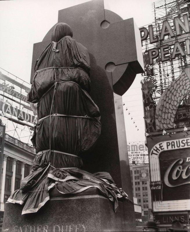 Berenice Abbott. 'Father Duffy, Times Square' April 14, 1937