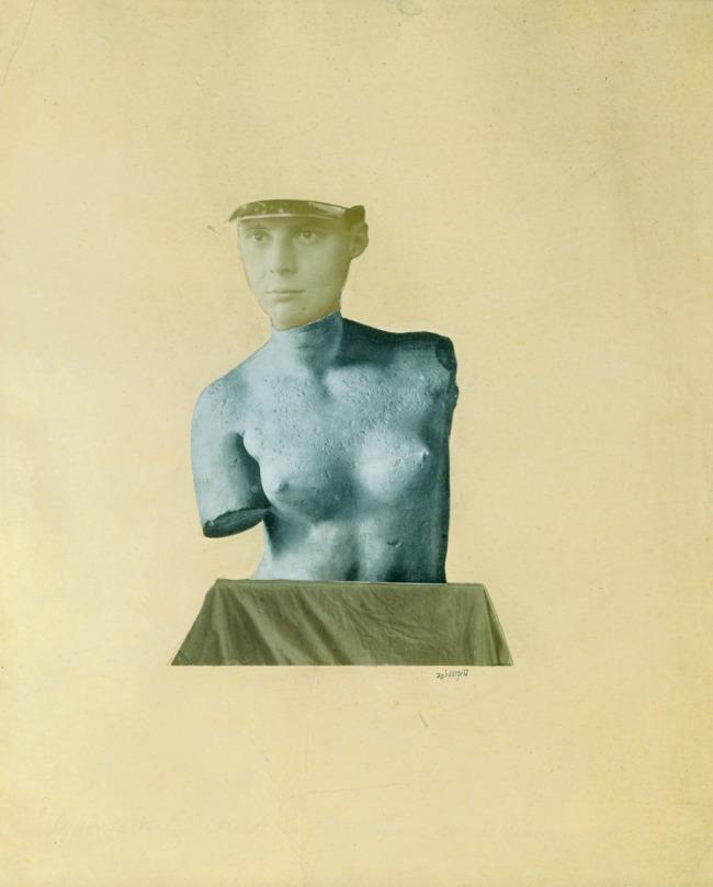 Johannes Theodor Baargeld (Alfred Emanuel Ferdinand Gruenwald). 'Typische Vertikalklitterung als Darstellung des Dada Baargeld' (Typical vertical mess as depiction of the Dada Baargeld). 1920