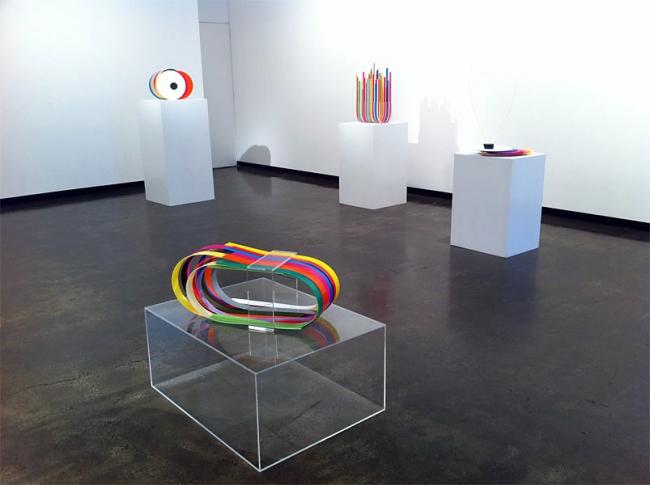 John Nicholson. Installation view of 'Halftone' 2010