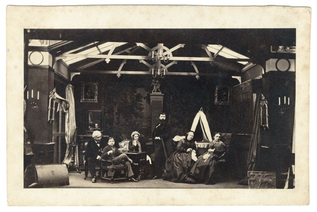 Camille Silvy. 'Silvy in his Studio with his Family' 1866