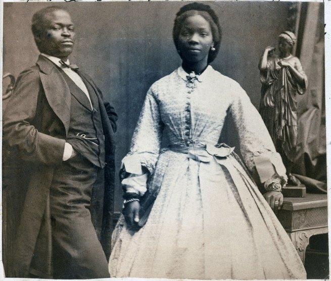 Camille Silvy. 'James Pinson Labulo Davies and Sarah Forbes Bonetta (Sarah Davies)' 1862