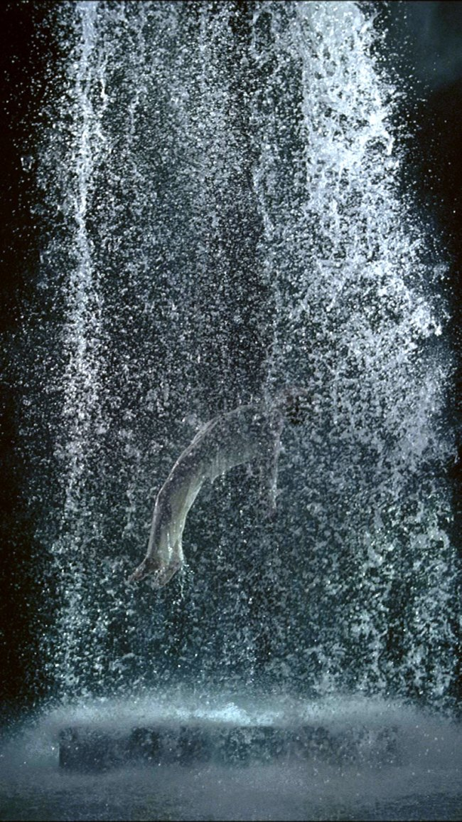 Bill Viola. 'Tristan's Ascension (The Sound of a Mountain Under a Waterfall)' 2005 (still)