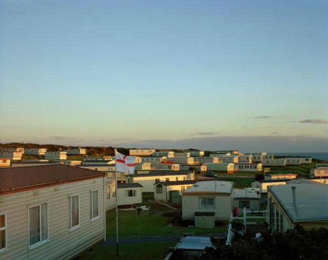 Simon Roberts. 'Rushey Hill Caravan Park, Peacehaven, East Sussex, 21st December 2007' from the series 'We English'