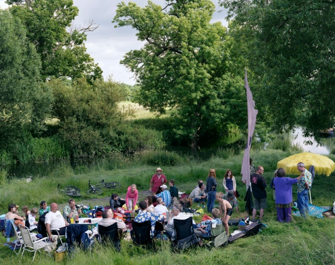 Simon Roberts 'Paul Herrington's 50th Birthday, Grantchester, Cambridgeshire, 15th June 2008' from the series 'We English' 2008