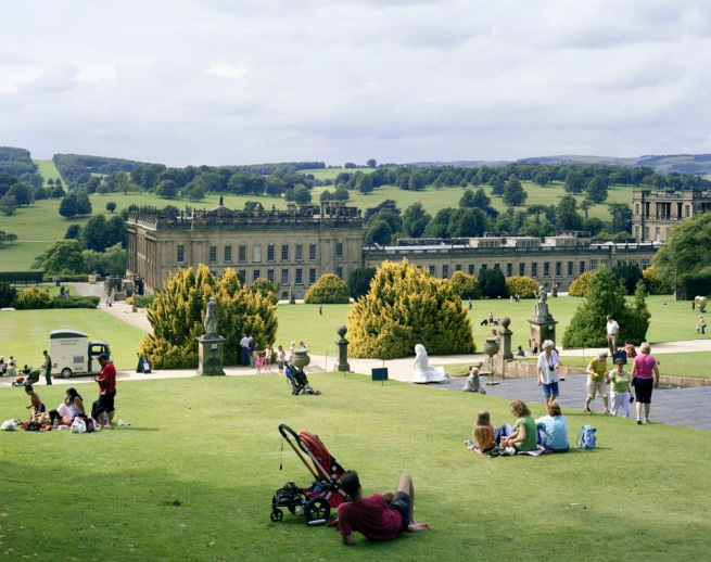 Simon Roberts 'Chatsworth House, Bakewell, Derbyshire, 7th August 2008' from the series 'We English' 2008