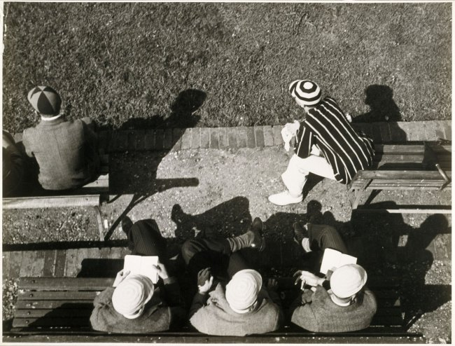 László Moholy-Nagy. 'Eton. Eleves watching cricket from the pavilion on Agar's Plough' c. 1930