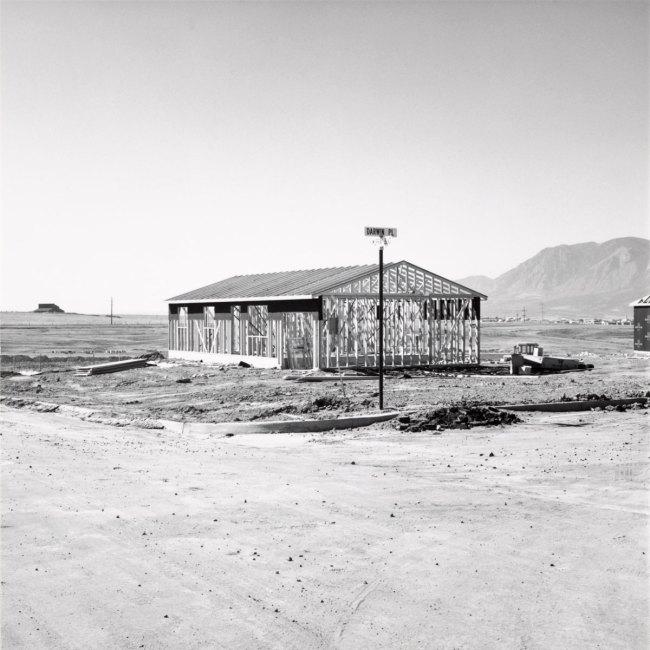 Robert Adams. 'Frame for a Tract House, Colorado Springs, Colorado' 1969