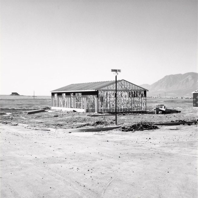 Robert Adams. 'Frame for a Tract House, Colorado Springs, Colorado' 1969