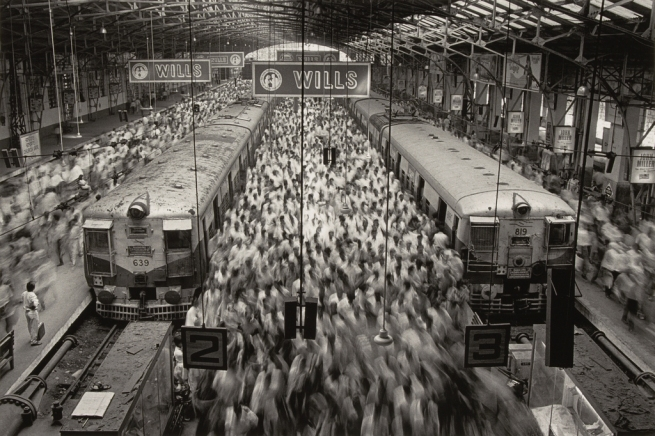 "Sebastião Salgado (Brazilian, born 1944) ""Church Gate Station, Western Railroad Line, Bombay, India"" negative 1995; print 2009"