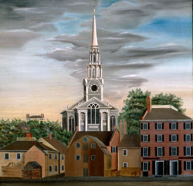 Unknown artist. 'View of Providence, Rhode Island' 1820