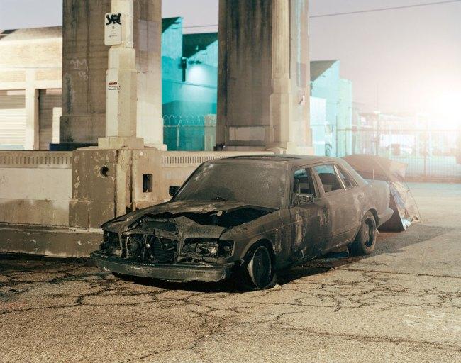 Will Steacy. 'Burned Car, Los Angeles' 2009