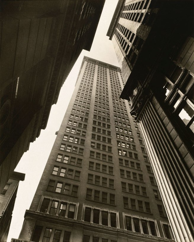 Berenice Abbott. 'Canyon, Broadway and Exchange Place' 1936