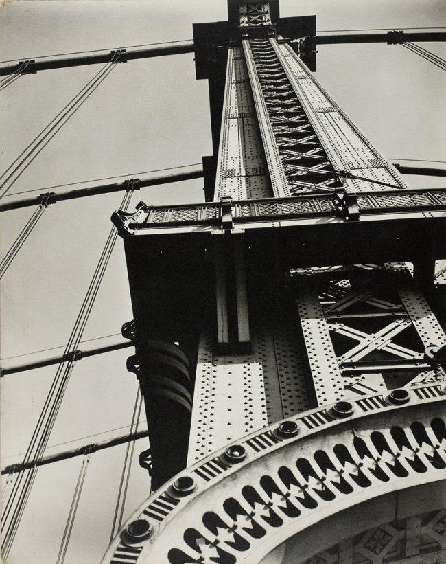 Berenice Abbott. 'Manhattan Bridge Looking Up' 1936