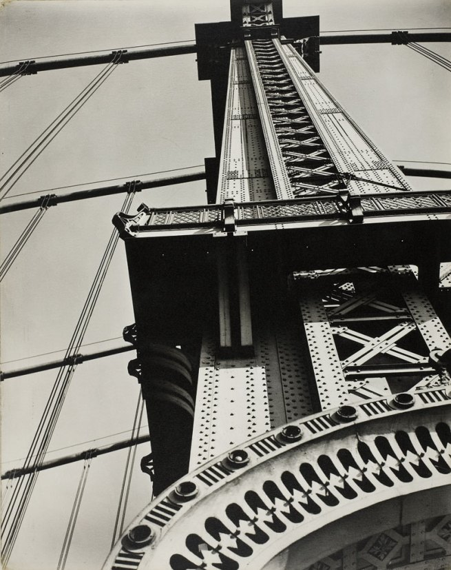 Berenice Abbott. 'Manhattan Bridge Looking Up' 1936