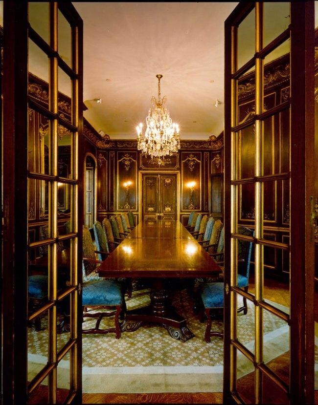 Jim Dow. 'Dining Room, Morgan Library, New York' 1999 / 2010