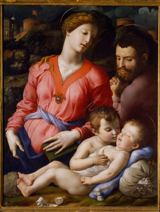 Bronzino. 'Holy Family with St John (Panciatichi Madonna)' c. 1540