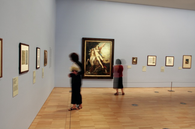 Gustave Moreau and the Eternal Feminine' at the National Gallery of Victoria installation photograph