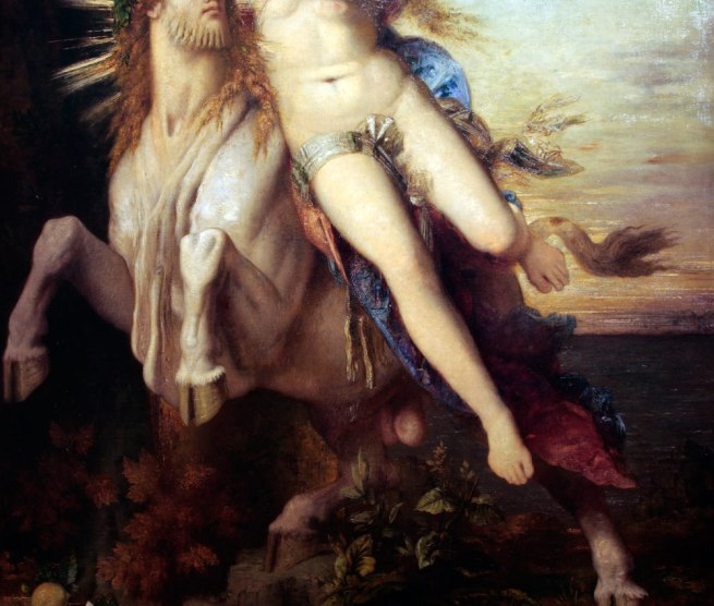 Gustave Moreau. 'Jupiter and Europa' 1868 (detail)
