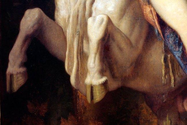 Gustave Moreau. 'Jupiter and Europa' 1868 (detail)