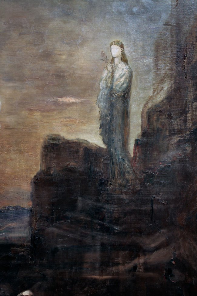 Gustave Moreau. 'Helen on the Walls of Troy' c. 1870 (detail)