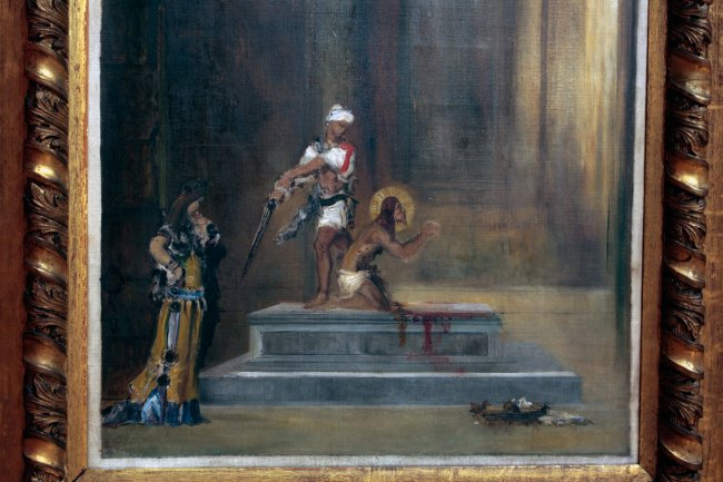 Gustave Moreau. 'Beheading of John the Baptist' 1870 (detail)