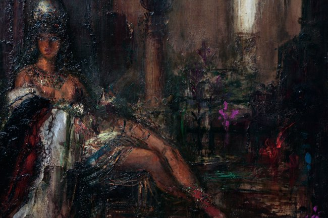 Gustave Moreau. 'Delilah' Nd (detail)