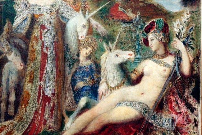 Gustave Moreau. 'The Unicorns' c. 1885 (detail)