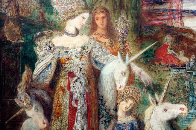 Gustave Moreau. 'The Unicorns' c. 1885 (detail)
