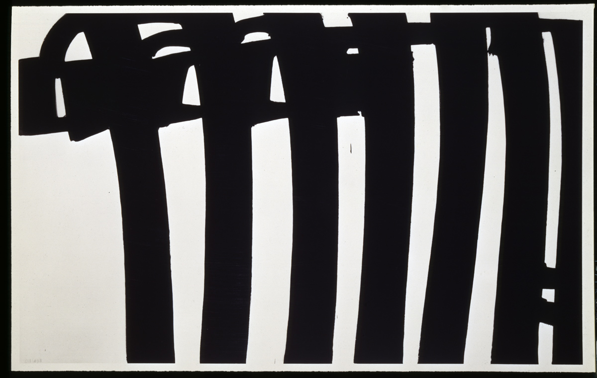 pierre soulages brou de noix sur papier art blart. Black Bedroom Furniture Sets. Home Design Ideas
