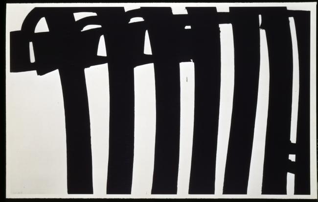 Pierre Soulages. 'Peinture 202 x 327 cm, 17 janvier 1970'